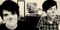 Dan Howell and Phil Lester I love British YouTuber . Accents Gaaaa.