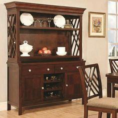 wildon home blooming grove china cabinet in dark mahogany