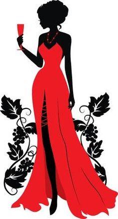 Único y Creativo Wearing A Beautiful Red Dress, Silhouette Figures, Wineglass, Beauty PNG and Vec. Wearing A Beautiful Red Dress, Silhouett. Silhouette Art, Woman Silhouette, Dress Silhouette, Background Vintage, Background S, Beautiful Red Dresses, Black Women Art, Fashion Art, Fashion Design
