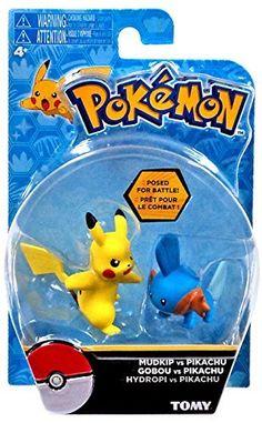 "TOMY Pokemon Action Pose Mudkip vs Pikachu 2"" Mini Figure 2-Pack"