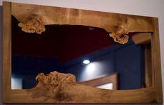 Burl Sassafras Natural Edge Mirror