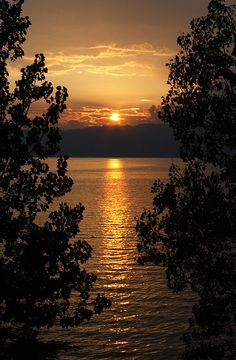 Sunset over Lake Ohrid, Macedonia.---got to find my pictures