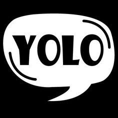 You Only Live Once Yolo Vinyl Sticker Decal Car Bumper Helmet Skateboard Osarix #AveryDennisonVinyl