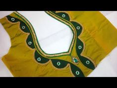 easy blouse back neck designs cutting and stitching at home Saree Kuchu Designs, Salwar Neck Designs, Saree Blouse Neck Designs, Blouse Patterns, Patch Work Blouse Designs, Best Blouse Designs, Blouse Designs Catalogue, Blouse Models, Gold Haram