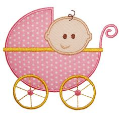 Applique patterns I have already: Baby Carriage Applique  Would be cute with BA/BY or AB/CD embroidered on bottom half of stroller