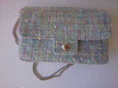 Bag Nina tweed light blue interfacing and lining by SUNSUELLE, €198.00