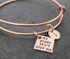 My Story Isn't Over Yet Adjustable Copper by CharitableCreations