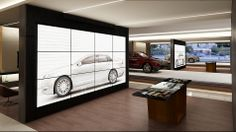 the Personalization Studio allows customers to visually explore the entire array of models, colors and features, configure their desired vehicle, and view a life-size image of the vehicle both inside and out with family and friends before making a selection. #videowall #remotecontrol