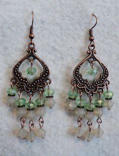 vintaj vintage earrings green-and-opac-swarvoski-crystal-copper