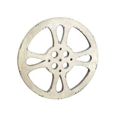 "Hollywood Vintage 42"" Metal Film Reel Home Movie Theater Accent Art Wall Decor"