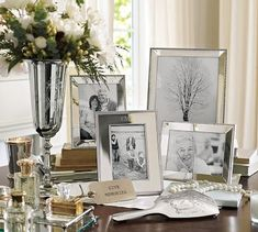 Classic Silver-Plated Frames from the Pottery Barn.  Oh so pretty!