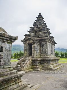 Temple at Candi Arjuna Hindu Temple Complex, Dieng Plateau, Central Java, Indonesia.
