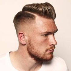 Modern edge meets classic style. Men's hair.