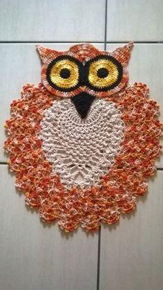 Aninha Croche & Trico: Tapete coruja ...