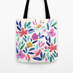 Ohana Flower Tote Bag by CRYSTAL WALEN | Society6