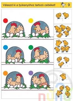 Logico feladatok Ovisoknak - Katus Csepeli - Picasa Webalbumok Preschool Learning Activities, Brain Activities, Preschool Worksheets, Preschool Activities, Kids Learning, Visual Perception Activities, Kindergarten, 2nd Grade Worksheets, Back To School