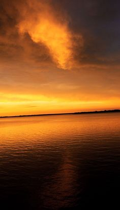 Sunset after a Storm Foss Lake