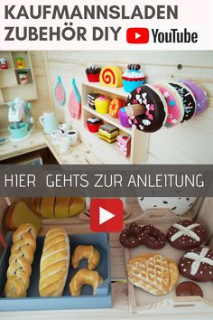 Accessories store DIY- salt dough- DIY shop- accessories children& kitchen - build your own play kitchen - UPCYCLING - DO IT YOURSELF : How to, Selbermachen, DIY, selber machen, heimwerken - Diy Play Kitchen, Kitchen Shop, Diy Kitchen Decor, Diy Laden, Diy Kitchen Accessories, Accessories Store, Baby Room Boy, Childrens Kitchens, Cuisines Diy