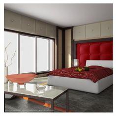 Red Bed room Design Idea