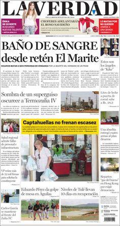 #Portadas #PrimeraPagina #Titulares #Noticias #DesayunoInformativo La Verdad #Zulia