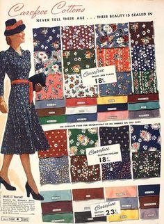 vintage fabric patterns 1940s
