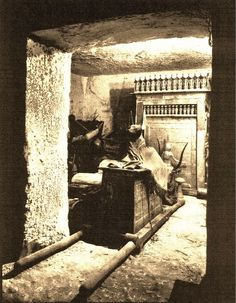 1922 photograph depicting the interior of Tutankhamun's tomb. See more amazing objects from King Tut's tomb in the exhibit, Tutankhamun: Return of the King. Now at the SC State Museum.