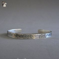 Handmade Sterling Mens Cuff Bracelet, Hammered Oxidized - Wedding bracelets (*Amazon Partner-Link)