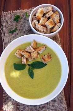 Zupa krem z cukinii #thermomix Ketogenic Recipes, Ketogenic Diet, Keto Recipes, Vegan Cake, Vegan Desserts, Vegan Gains, Keto Results, Best Soup Recipes, Ketogenic Lifestyle