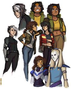 no one asked for it but HERE YOU GO bunch of genderbend voltron sketches and…