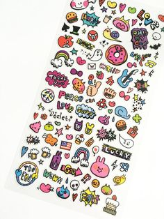 Cute Doodles Stickers // Erin Condren Planner Stickers // Scrapbooking embellishment // DIY essentials