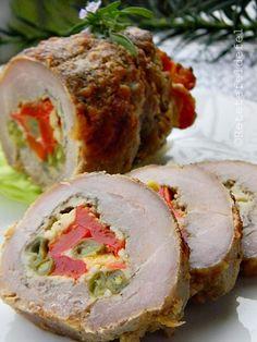 Amazing Food Decoration, Romanian Food, Romanian Recipes, I Want To Eat, Pork Recipes, Meatloaf, Lamb, Sushi, Bacon
