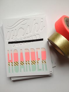 Washi Project Life card
