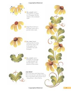 Simple stroke daisies from The Brushstroke Book: The Ultimate Guide to Decorative Painting by Maureen McNaughton