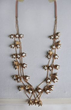 brass lily of the valley necklace
