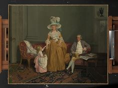 The Saithwaite Family  Francis Wheatley (English, London 1747–1801 London)  Date: ca. 1785 Medium: Oil on canvas Dimensions: 38 3/4 x 50 in. (98.4 x 127 cm) Classification: Paintings Credit Line: Gift of Mrs. Charles Wrightsman, 2009 Accession Number: 2009.357