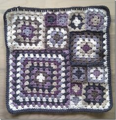 Multiple sizes of granny squares