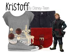 """Kristoff"" by disney-teen ❤ liked on Polyvore featuring Marc Jacobs, Disney, Stella & Dot, Converse, Rembrandt Charms, Kenneth Jay Lane, disney, disneybound, frozen and disneyfashion"
