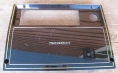 Monte Carlo SS G Body El Camino OEM Radio Delete Panel Bezel P/N 459532 Black #Chevrolet