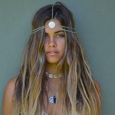 Image of Bohemian Angel gifts with purchase Festival Trends, Look Festival, Hair Inspo, Hair Inspiration, Hippie Boho, Bohemian, Hippie Style Hair, Gatsby Headband, Boho Headband