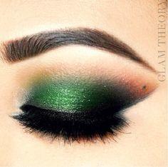 Forest Green #eye #makeup #eyes #eyeshadow #smokey #dark #dramatic