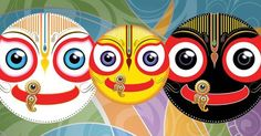 Jagannath Baladeva and Subhadra Krishna Art, Hare Krishna, Indian Gods, Indian Art, Lord Jagannath, New Rangoli Designs, Lord Vishnu, Traditional Paintings, Simple Art