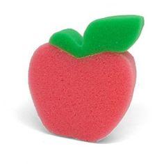 Esponja de Baño Manzana, muy decorativa, tanto para composiciones de cesta de regalo como para decorar tu baño. #diy