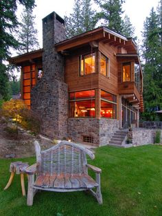 Traditional Mountain Cabin Design, Pictures, Remodel, Decor and Ideas - page 24