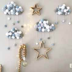 log in - Lombn Sites Diy Home Crafts, Baby Crafts, Diy Crafts For Kids, Sewing For Beginners Diy, Pom Pom Crafts, Star Nursery, Nursery Room Decor, Baby Boy Rooms, Baby Decor