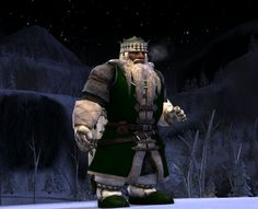 A wintery outfit from Cosmetic Lotro.