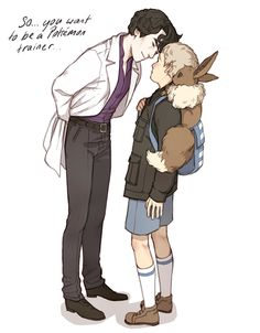 John and the slightly creepy eccentric Professor Holmes ♥ I'm so jealous of all you people playing XY ;____; Maybe I will buy a 3DS instead of save. Choices choices…
