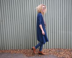 Tessuti Fabrics - Megan Longline Cardigan in merino jersey