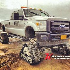 #Ford F-350 Diesel tracks.                         Some wheels, must be a pain to install