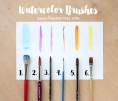 Watercolors for Beginners: Basic Supplies - Lines Across Watercolor Beginner, Watercolor Tips, Watercolour Tutorials, Watercolor Drawing, Beginner Painting, Painting Tutorials, Watercolor Pencils, Best Watercolor Brushes, Simple Watercolor