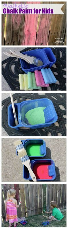Washable Chalk Paint! Fun DIY Craft and Activity for Kids! Summer fun for an outside game!